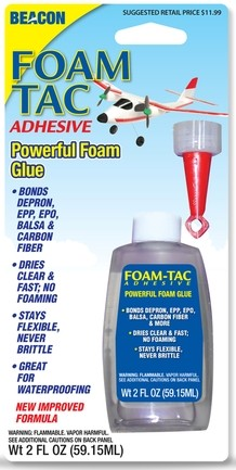 Foam Tac Adhesive 2 oz bottle