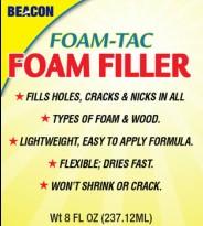 FOAM-TAC FOAM FILLER